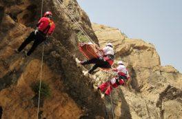عملیات جستجو و نجات فرد حادثه دیده در ارتفاعات باغران بیرجند