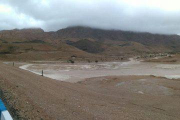 بزرگترین سد خاکی آبخیزداری شرق کشور در حال آبگیری شده است