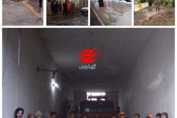 وقوع ۷۲ مورد آبگرفتگی در پی بارش باران شب گذشته شهر فردوس