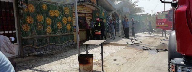 آتش سوزی در مهدکودک الغدیر طبس
