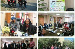 زوج دوچرخه سوار با شعار اهدای عضو اهدای زندگی  مورد استقبال مسئولین طبس قرار گرفتند