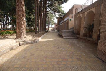 پایانِ بخشی از مرمت عمارت جهانی باغ اکبریه