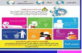 علائم و توصیه های لازم درخصوص ویروس کرونا