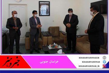 مراسم تکریم و معارفه رئیس اداره فرهنگ و ارشاد اسلامی درمیان برگزار شد