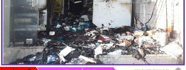 آتشسوزی در خیابان مدرس بیرجند تلفات جانی نداشت