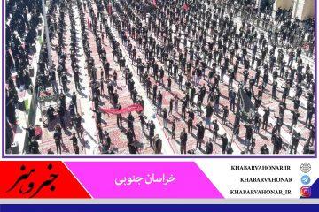 شکوه ارادت ، عزاداری روز عاشورا حسینیه شهدا آیسک با رعایت پروتکل های بهداشتی
