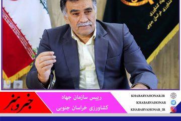 ۱۶۴ طرح کشاورزی  هفته دولت در خراسان جنوبی افتتاح میشود