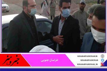 بازدید ریاست بنیاد علوی کشور جناب دکتر منصوری از واحدهای مسکونی در حال احداث شهرستان درمیان