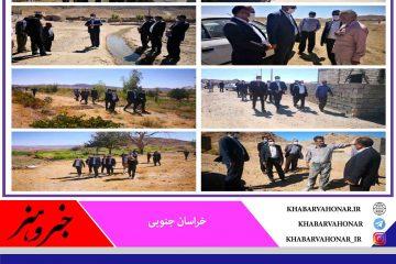 حضور و بازدید ١٠ ساعته فرماندار شهرستان نهبندان از ۶ روستای دهستان عربخانه