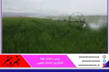 طرحهای آبیاری نوین بدون محدودیت در خراسان جنوبی اجرا میشود
