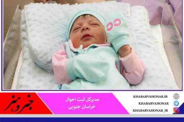 تولد ۱۱ هزار و ۲۸۷ نوزاد در خراسان جنوبی