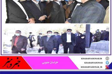 حضور استاندار خراسانجنوبی در محل اجرای پروژه توسعه بیمارستان شهید آتشدست نهبندان