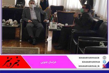 دیدار نماینده مردم  قاینات وزیرکوه در مجلس شورای اسلامی با  وزیر  فرهنگ و ارشاد اسلامی