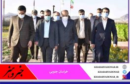 استقبال استاندار خراسان جنوبی از وزیر ورزش و جوانان در فرودگاه بین المللی شهید کاوه بیرجند