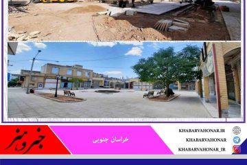 اتمام عملیات بهسازی معابر محله سرپل  شهر بشرویه