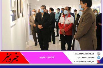 نمایشگاه آثار خوشنویسی جشنواره یک پیکر در بیرجند گشایش یافت