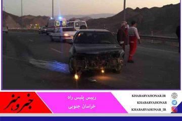 ۸۶ نفر در حوادث رانندگی خراسان جنوبی فوت کردند