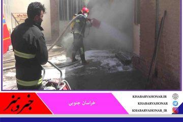 مهار آتش سوزی در بازار بیرجند بعد از حدود ۳ ساعت