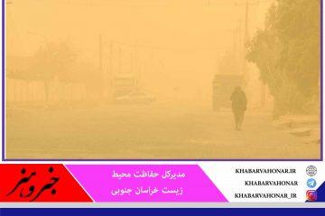 خراسان جنوبی خطرناکترین شرایط را در کشور از نظر گرد و  غبار و نیز پیشروی کانونهای فرسایش بادی دارد