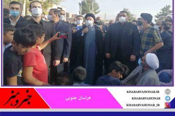رییس جمهوری در محله کاظمیه بیرجند حضور یافت